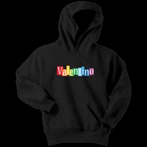 Valentino Logo Rainbow Youth Hoodie