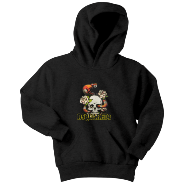 Dsquared2 Snake Skull And Rose Youth Hoodie