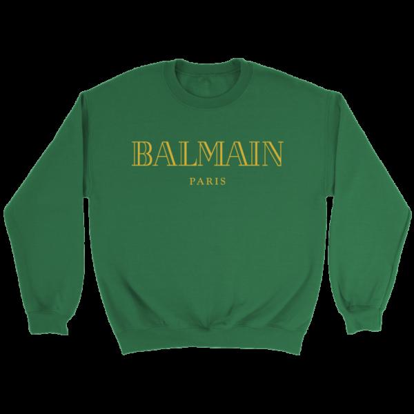 Balmain Gold Logo Crewneck Sweatshirt