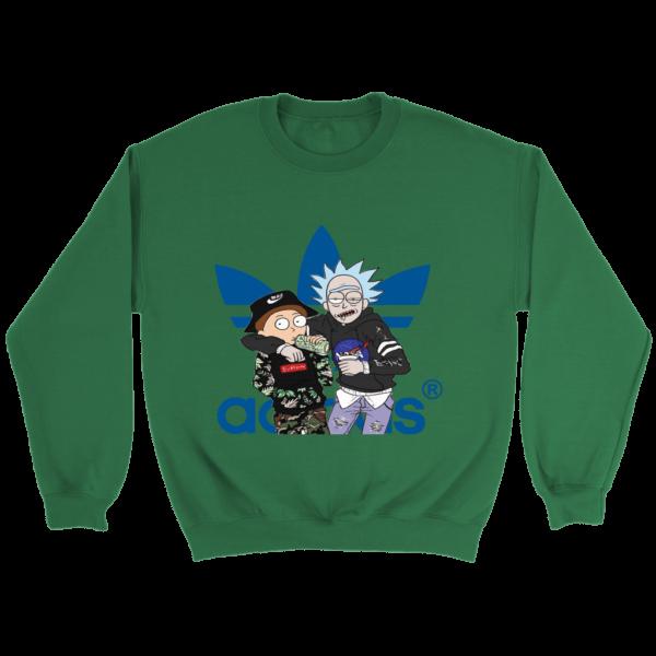 Rick And Morty Adidas Fashion Crewneck Sweatshirt