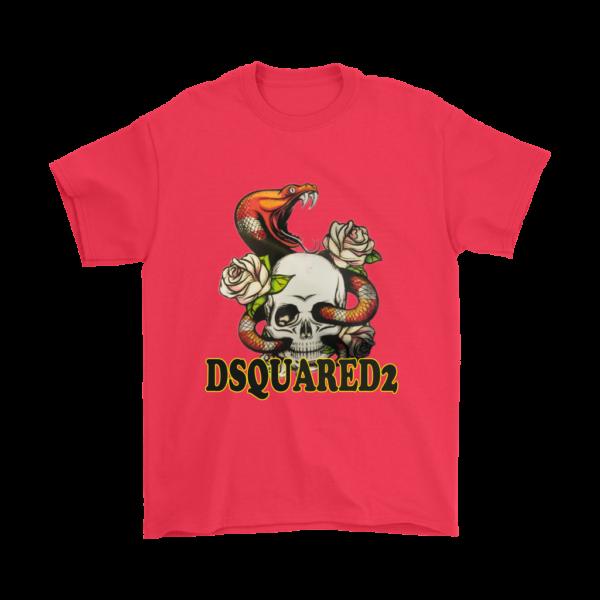 Dsquared2 Snake Skull And Rose Mens T-Shirt