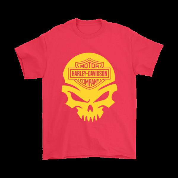 Harley Davidson Gold Skull Mens T-Shirt