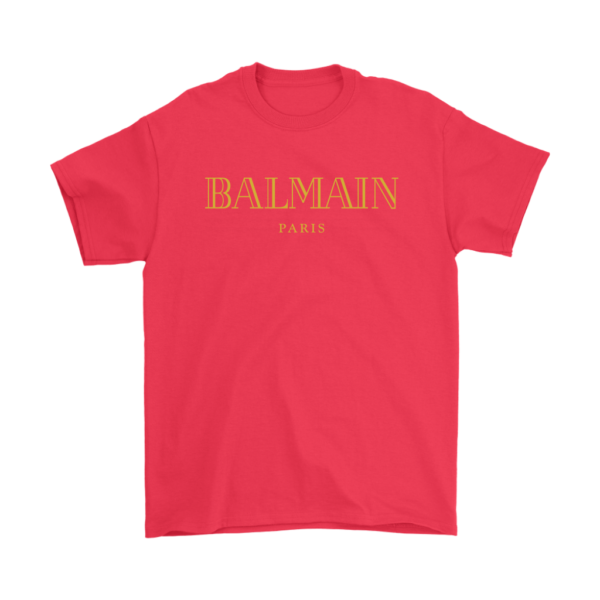 Balmain Gold Logo Mens T-Shirt