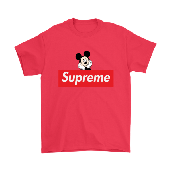 Supreme Mickey Mouse Logo Premium Mens T-Shirt