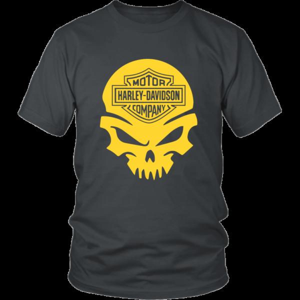 Harley Davidson Gold Skull Unisex Shirt
