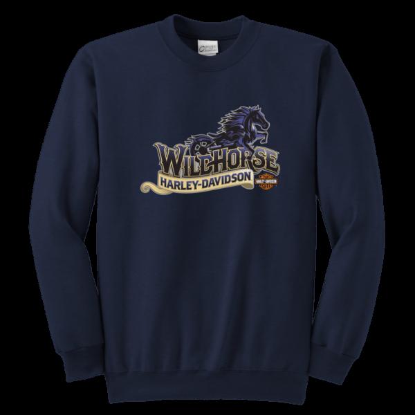 Wildhorse Harley Davidson Logo Youth Crewneck Sweatshirt