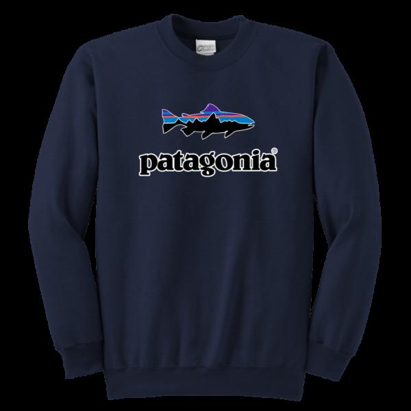 Patagonia Fish Logo Youth Crewneck Sweatshirt