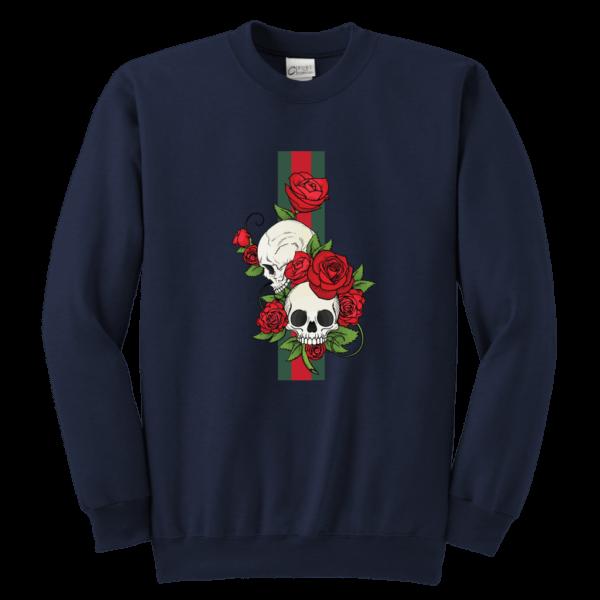 Roses Of Gucci Skull Premium Youth Crewneck Sweatshirt