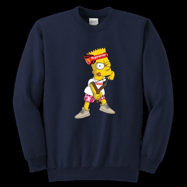 Bart Simpson Gucci Supreme Youth Crewneck Sweatshirt