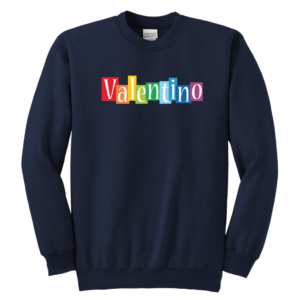 Valentino Logo Rainbow Youth Crewneck Sweatshirt