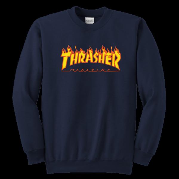 Thrasher Flame Logo Youth Crewneck Sweatshirt
