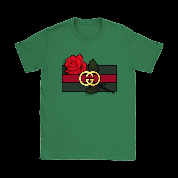 Gucci Rose Printed Womens T-Shirt