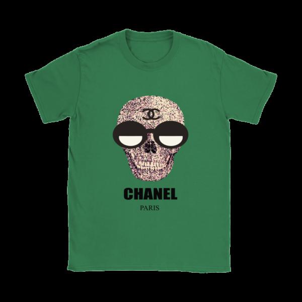 Chanel Skull Logo Womens T-Shirt