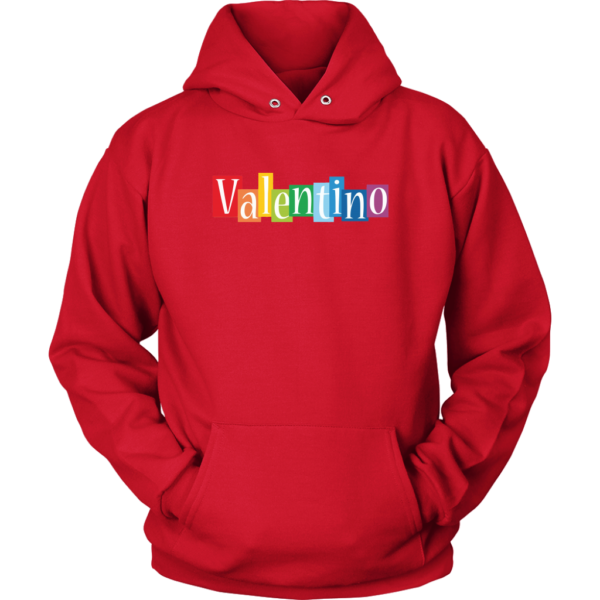 Valentino Logo Rainbow Unisex Hoodie