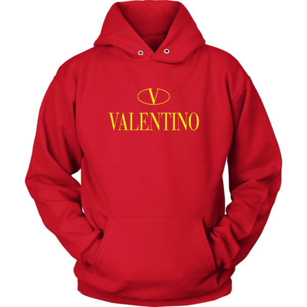 Valentino Logo Gold Premium Edition Unisex Hoodie