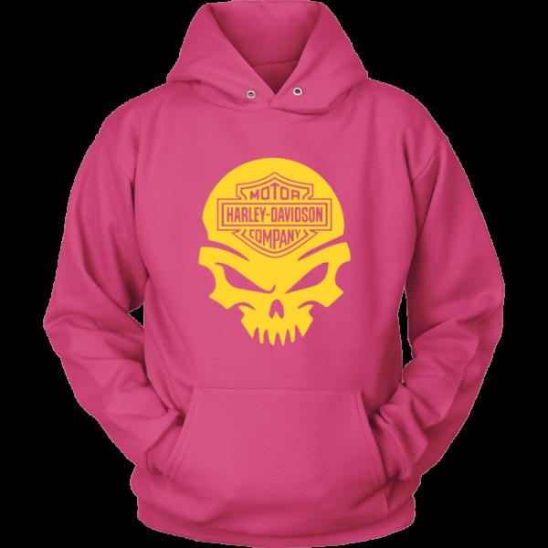 Harley Davidson Gold Skull Unisex Hoodie