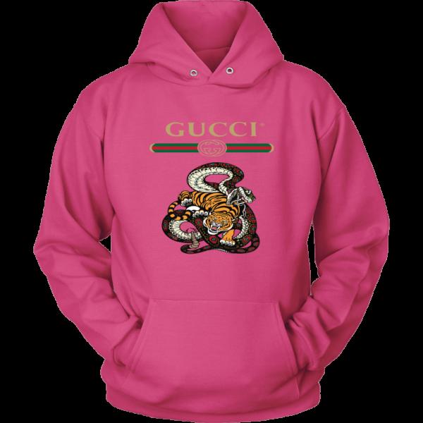 Gucci Logo Edition Tiger Vs Snake Unisex Hoodie