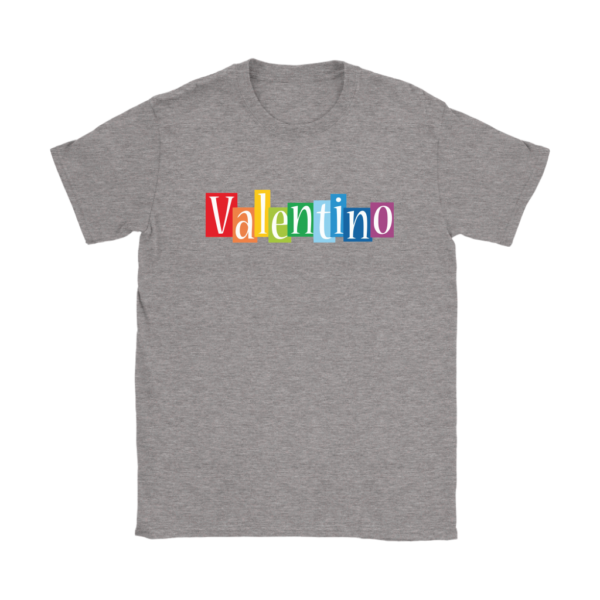 Valentino Logo Rainbow Womens T-Shirt