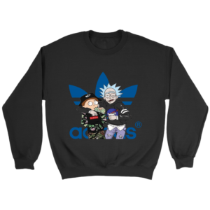 Rick And Morty Adidas Fashion Crewneck Sweatshirt