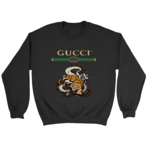 Gucci Logo Edition Tiger Vs Snake Crewneck Sweatshirt