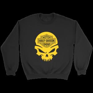 Harley Davidson Gold Skull Crewneck Sweatshirt