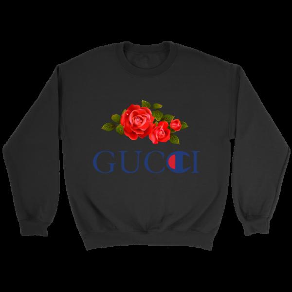 Gucci Champion Rose Crewneck Sweatshirt