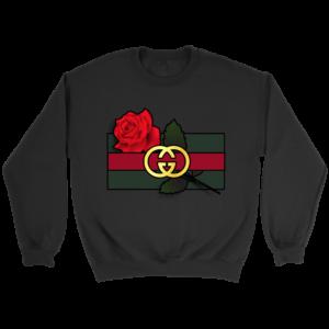Gucci Rose Printed Crewneck Sweatshirt