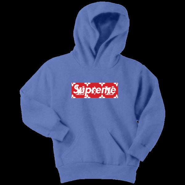 Supreme x Louis Vuitton Logo Youth Hoodie