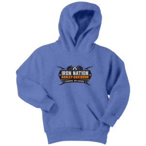 Iron Nation Harley Davidson Logo Youth Hoodie