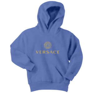 Versace Gold Logo Youth Hoodie