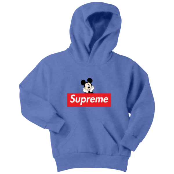 Supreme Mickey Mouse Logo Premium Youth Hoodie