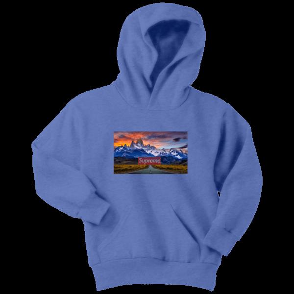Supreme Patagonia Mountains Youth Hoodie
