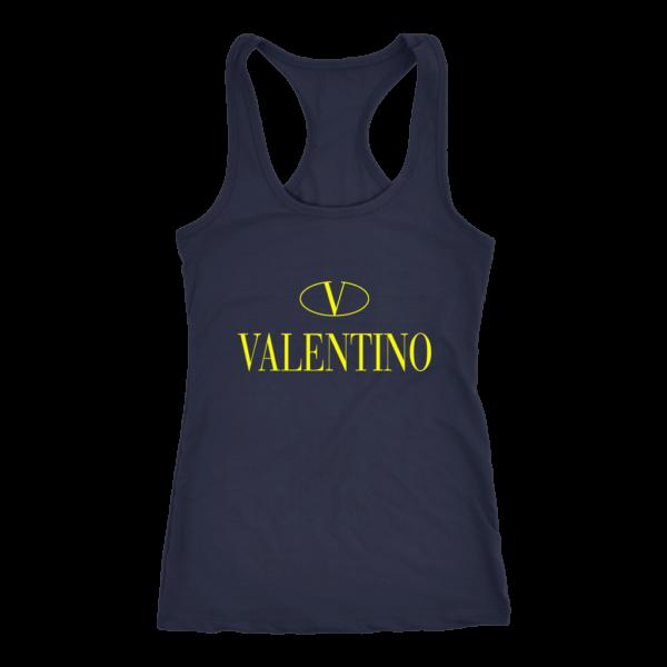 Valentino Logo Gold Premium Edition Womens Tank Top