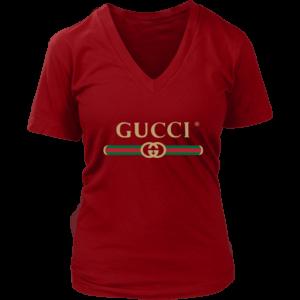 Gucci Logo 2021 Premium Womens V-Neck