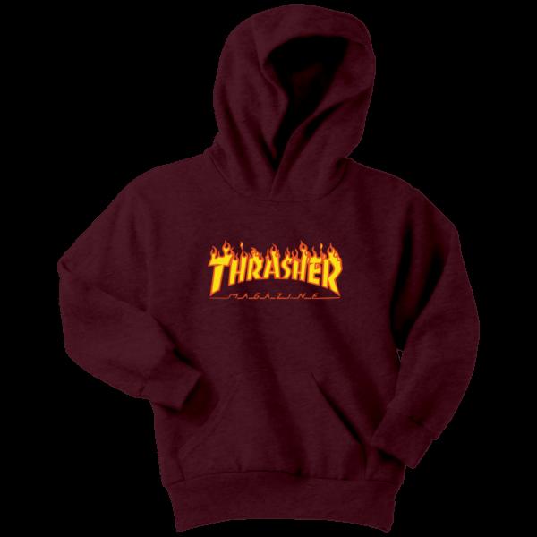 Thrasher Flame Logo Youth Hoodie
