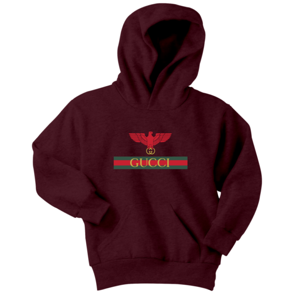 Gucci Red Eagle Bird Youth Hoodie