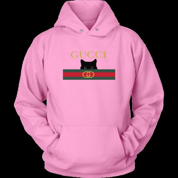 Gucci Black Cat Secret Logo Unisex Hoodie