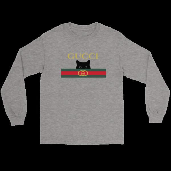Gucci Black Cat Secret Logo Long Sleeve Tee