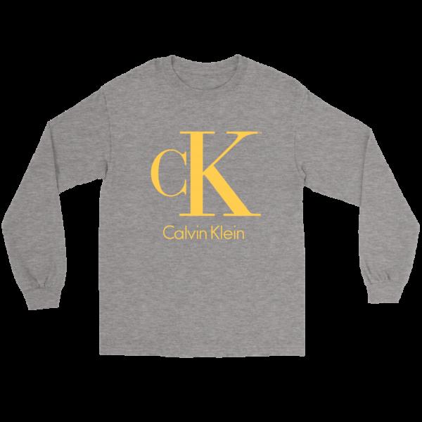 Calvin Klein Gold Logo Premium Long Sleeve Tee