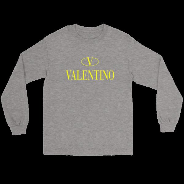Valentino Logo Gold Premium Edition Long Sleeve Tee
