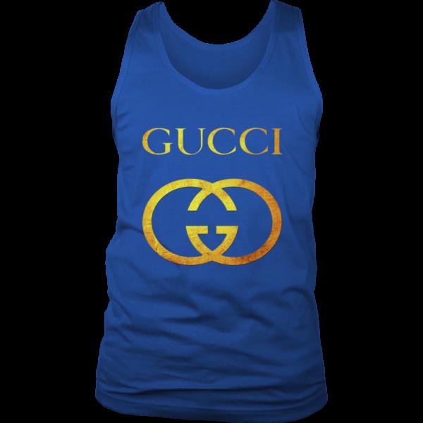 Gucci Gold Logo Mens Tank Top