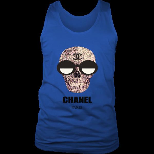 Chanel Skull Logo Mens Tank Top
