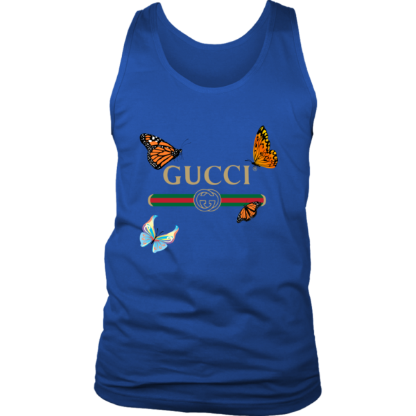 Gucci Butterfly Printed Edition Mens Tank Top