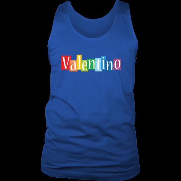 Valentino Logo Rainbow Mens Tank Top