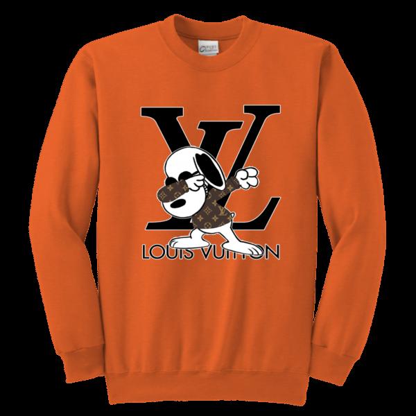 Snoopy Louis Vuitton Logo Youth Crewneck Sweatshirt