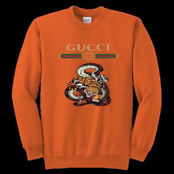 Gucci Logo Edition Tiger Vs Snake Youth Crewneck Sweatshirt