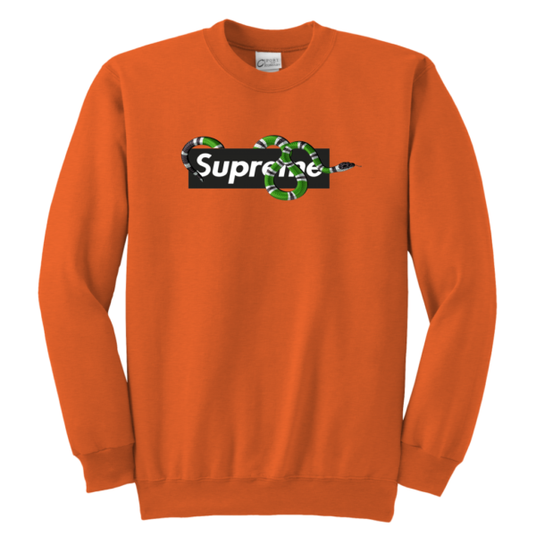 Supreme Snake Logo Limited Edition Youth Crewneck Sweatshirt