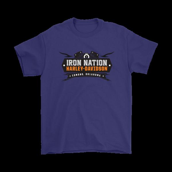Iron Nation Harley Davidson Logo Mens T-Shirt