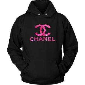 Coco Chanel Logo Pink Glitter Unisex Hoodie
