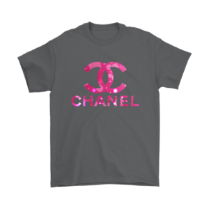 Coco Chanel Logo Pink Glitter Mens T-Shirt